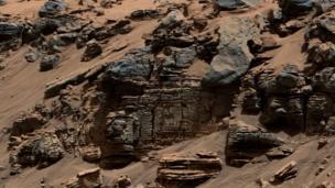 Martian sedimentary rock