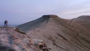 Brecon Beacons before sunrise