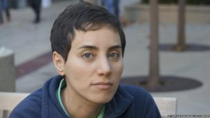 Professor Maryam Mirzakhani via Stanford shows her on the university's campus