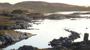 Traditional cottages on Berneray