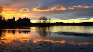 Linlithgow Palace sunset