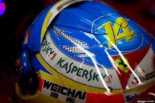 Fernando Alonso's helmet