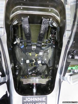 Seat inside McLaren Formula 1 car