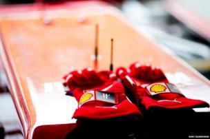 Kimi Raikkonen's gloves