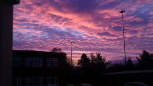 The sky over Cardiff on Wednesday morning taken by Steve Gabriel