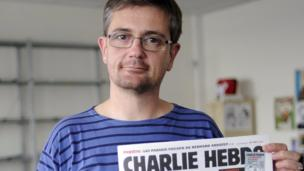 A file picture dated 19 September 2012 shows Publishing director of the the French satirical newspaper Stephane Charbonnier