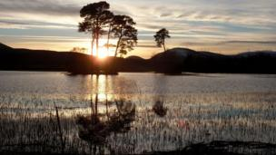 Sunset over Loch Dubh