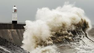 Susan Dobbs took this picture of high tide at Porthcawl