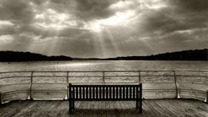 Iwan Williams took this picture of a bench of a bench on Bangor pier.