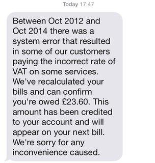 EE text message