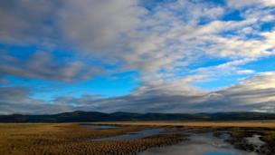 This panorama of Aberdyfi beach in Gwynedd was captured by Kevin Richardson, of Corris, Gwynedd.