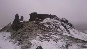 A winter image of Castell Dinas Bran, Llangollen, Denbighshire, taken by Clive Potter of Welshpool, Powys.