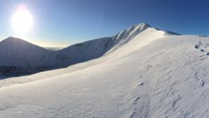 The snow on Pen y fan this week was photographed by James Godding, of Crickhowell, Powys.