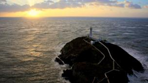 South Stack lighthouse just off Holyhead, Anglesey