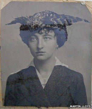 French woman with a pheasant-style hat