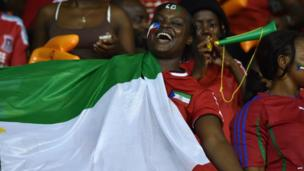 Equatorial Guinea's supporters cheer