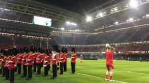 Wales warm-up