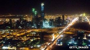 The skyline of Riyadh