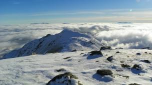 Cloud below Arenig Fawr, near Bala