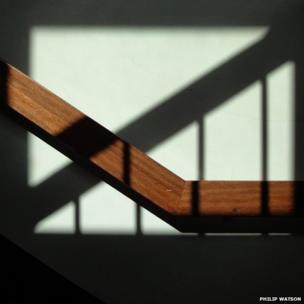 Shadows and banister