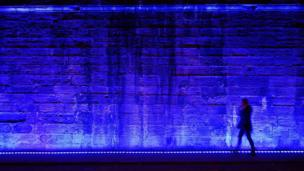 Wall illuminated
