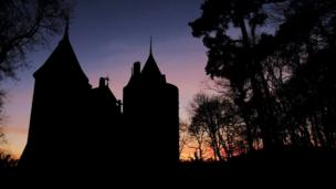 Castell Coch in Tongwynlais, Cardiff, taken at sunset by Alan Cheng from Llandaff