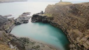 Dawn Gibbons from Porthgain took this photo of the Blue Lagoon near Abereiddy in Pembrokeshire