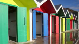 These colourful beach huts at Barry Island were photographed by Christine Lewis from Cardiff