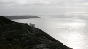 Lisa Hooton from Llanddeusant took this photograph of Ellin's Tower at South Stack on Anglesey