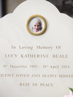 Lucy Beale's headstone