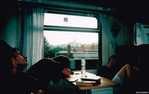 Sleeping on a train