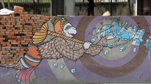 Hanuman is often depicted carrying a golden sceptre