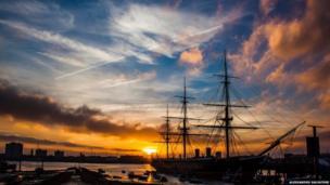 HMS Warrior in Portsmouth