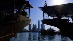 Dhow fishing boats, Abu Dhabi