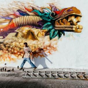 A graffiti artist - Arts and Culture winner - Hector Munoz Huerta, Mexico