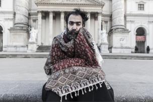 A man dressed as Don Bohlul - People winner - Saleh Rozati, Iran (lives in Austria)