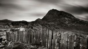 Iwan Williams took this picture of a slate fence with Tryfan in the Ogwen Valley, Snowdonia in the background