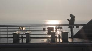 Kath Manners took out her camera and captured this moment as she set off through the early morning mist on the ferry from St Margaret's Hope heading across the Pentland Firth to the Scottish mainland.