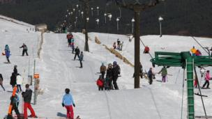 Skiing at CairnGorm Mountain