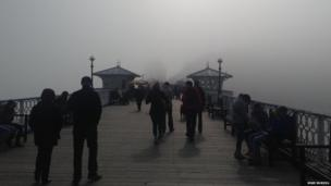 Mike Burvill took this picture of Llandudno promenade and pier engulfed by fog