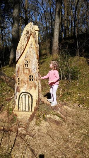 Girl at fairy house