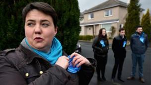 Ruth Davidson campaigning in Edinburgh