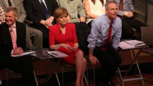 Willie Rennie, Nicola Sturgeon and Jim Murphy