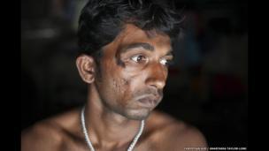 Anath Seal, 33, Jharkhali, Basanti Island, West Bengal, India