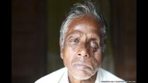 Rabi Majumdar, 63, Jharkhali, Basanti Island, West Bengal, India