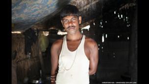 Avijit Dhali, 44, Jharkhali, Basanti Island, West Bengal, India