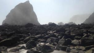 Sea fog in Monkstone, near Saundersfoot