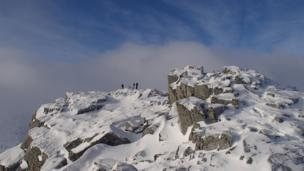 Summit of Meall a Bhuiridh in Glen Coe