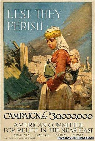 A poster for the American Committee for Relief in the Near East