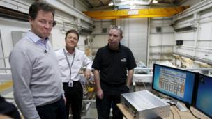Nick Clegg at Divex Global in Aberdeen